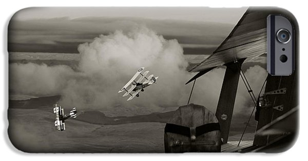 Sopwith Triplane iPhone Cases -  Sopwith - Overwatch iPhone Case by Pat Speirs