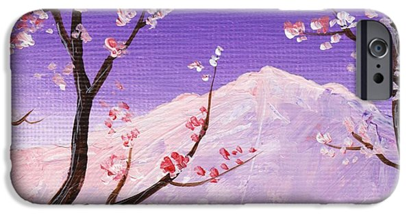 Cherry Blossoms Drawings iPhone Cases -  Spring Will Come iPhone Case by Anastasiya Malakhova