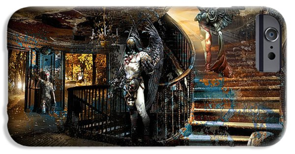 Recently Sold -  - Ruin iPhone Cases - Stairway to Heaven vs. Stairwell to Hell iPhone Case by George Grie