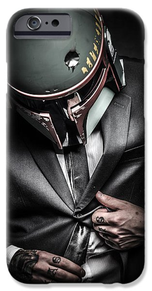 Stars Photographs iPhone Cases -  Star Wars suitup iPhone Case by Marino Flovent