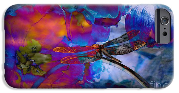 Floral Digital Art Digital Art iPhone Cases -  Stunning  photographic Art Dragonfly iPhone Case by Beverly Guilliams