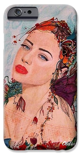 Young Paintings iPhone Cases -  Summer mood  iPhone Case by Otilia Grumazescu