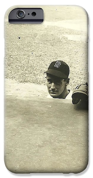Ted Williams iPhone Case by Diane Diederich