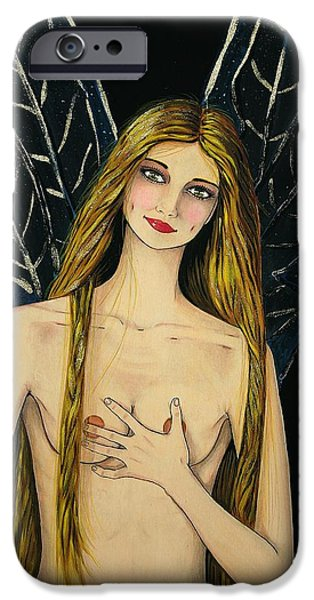 Night Angel iPhone Cases -  The fairy iPhone Case by Donatella Muggianu