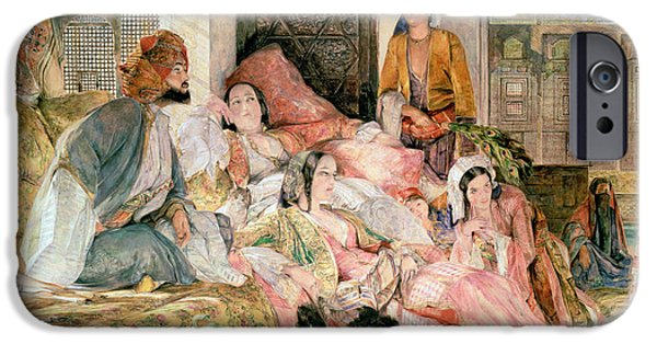 Slaves iPhone Cases -  The Harem iPhone Case by John Frederick Lewis