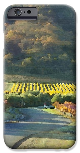 The Hills of Clos La Chance Winery iPhone Case by Artist and Photographer Laura Wrede
