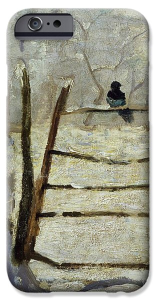 Winter Weather iPhone Cases -  The Magpie iPhone Case by Claude Monet