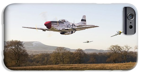 Classic Aircraft iPhone Cases -  Through the Gap iPhone Case by Pat Speirs