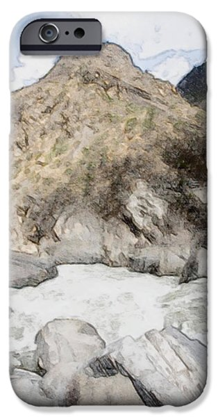 Deep River County Park iPhone Cases -  Tiger Leaping Gorge in Lijiang iPhone Case by Lanjee Chee