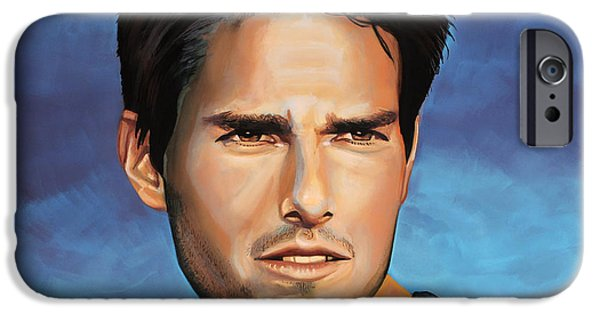 Cruise iPhone Cases -  Tom Cruise iPhone Case by Paul  Meijering