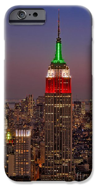Freedom iPhone Cases -  Top Of The Rock iPhone Case by Susan Candelario