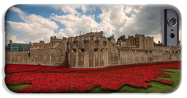 World War One Photographs iPhone Cases -   Tower of London Remembers.  iPhone Case by Ian Hufton