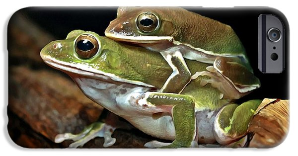 Spring Peepers Paintings iPhone Cases -  Tree Frog iPhone Case by Lanjee Chee