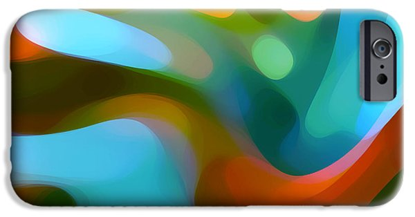 Abstract Digital Art iPhone Cases -  Tree Light 1 iPhone Case by Amy Vangsgard