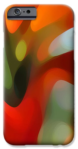 Abstract Movement Digital iPhone Cases -  Tree Light 2 iPhone Case by Amy Vangsgard