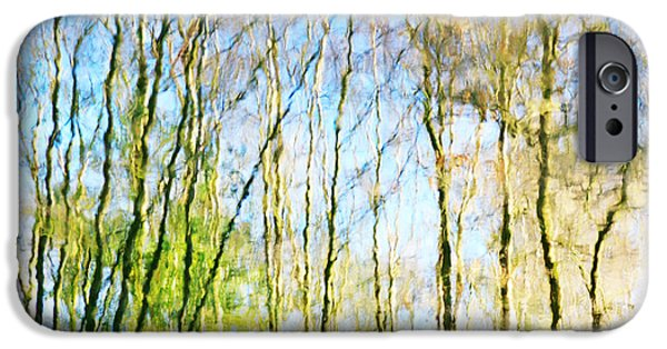 Abstracts From Nature iPhone Cases -  Tree Reflections Abstract iPhone Case by Natalie Kinnear