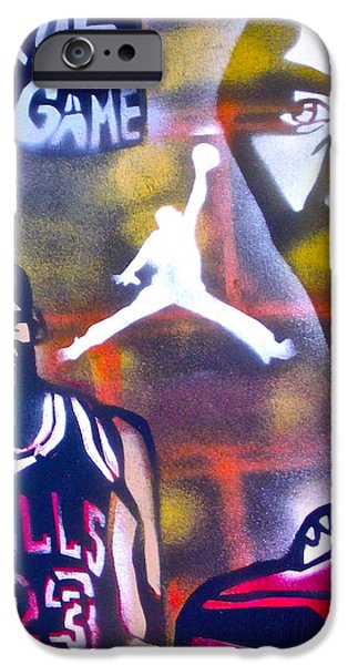 TRULY MICHAEL JORDAN  iPhone Case by TONY B CONSCIOUS