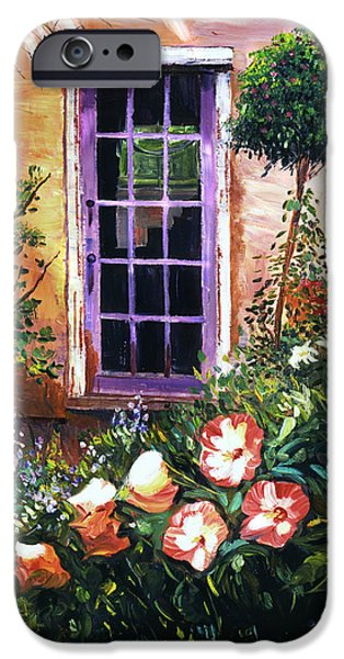 Architectural Elements iPhone Cases -  Tuscan Villa Garden iPhone Case by David Lloyd Glover