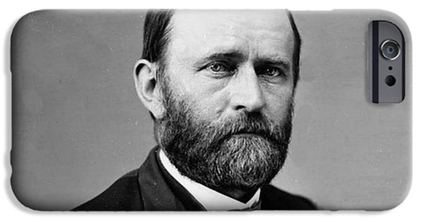 President iPhone Cases -  Ulysses S Grant General Civil War and 18th US President iPhone Case by David Call