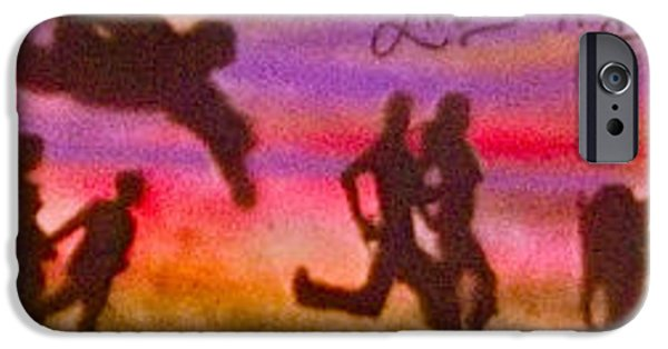 Kobe Paintings iPhone Cases -  Venice Beach to Santa Monica iPhone Case by Tony B Conscious