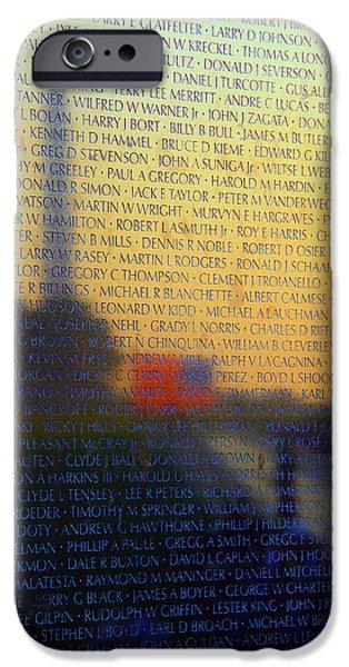 D.c. iPhone Cases -  Vietnam Veterans Memorial iPhone Case by Mitch Cat