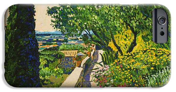 Pathway iPhone Cases -  View Of Provence iPhone Case by David Lloyd Glover