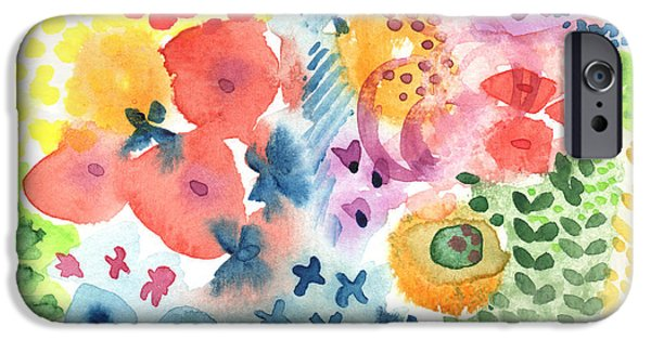 Shower iPhone Cases -  Watercolor Garden iPhone Case by Linda Woods