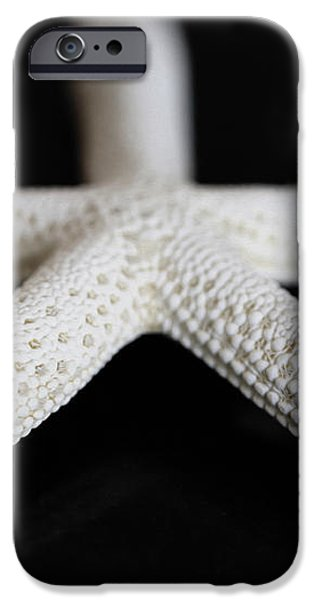 White Finger Starfish iPhone Case by Cheryl Young