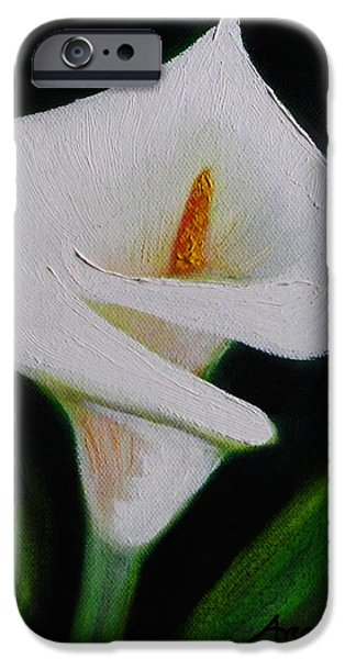 Alcatraz iPhone Cases -  White Lily-alcatraz iPhone Case by Anselmo Arce