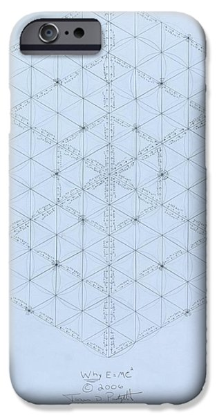 Flowers Drawings iPhone Cases -  Why Energy Equals Mass Times the Speed of Light Squared iPhone Case by Jason Padgett