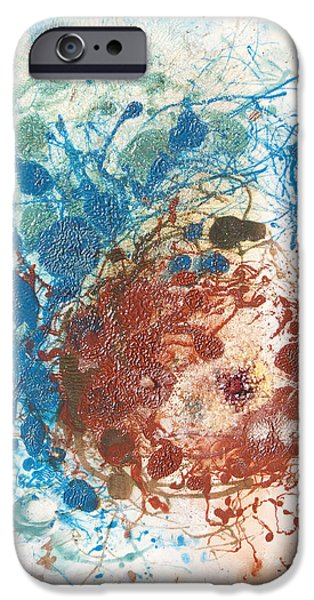 Recently Sold -  - Abstract Expressionism iPhone Cases - Yoni With the Seed of Life iPhone Case by Sora Neva