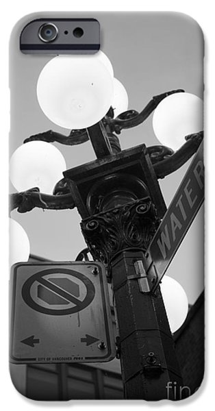 Night Lamp Pyrography iPhone Cases - 000 Water Street iPhone Case by Neil Webb