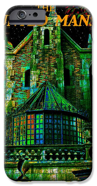 Haunted iPhone Cases - Haunted Masion poster work A iPhone Case by David Lee Thompson