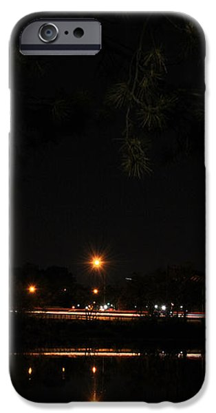 001 Japanese Garden Autumn Nights   iPhone Case by Michael Frank Jr