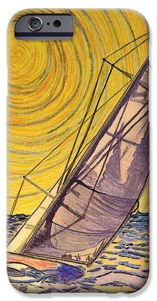 Fish Pyrography iPhone Cases - 0010 iPhone Case by W Gilroy