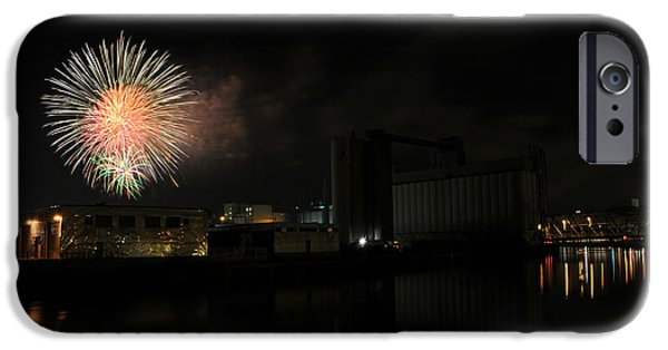 4th Of July iPhone Cases - 0018 ...The Bombs Bursting in Air...4JUL13 SERIES iPhone Case by Michael Frank Jr