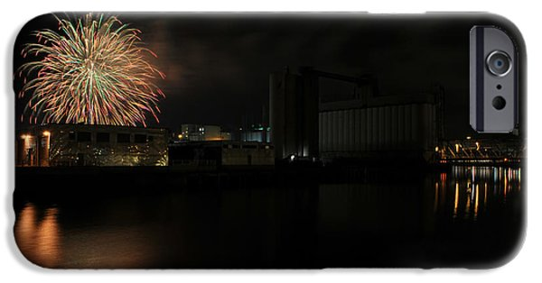 Fireworks iPhone Cases - 0028 ...The Bombs Bursting in Air...4JUL13 SERIES iPhone Case by Michael Frank Jr