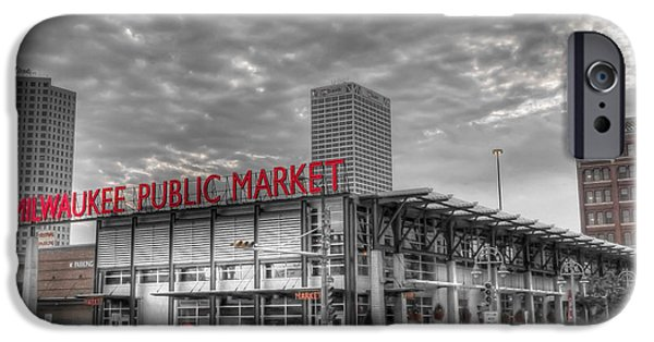 Wisconsin iPhone Cases - 0038 Milwaukee Public Market iPhone Case by Steve Sturgill