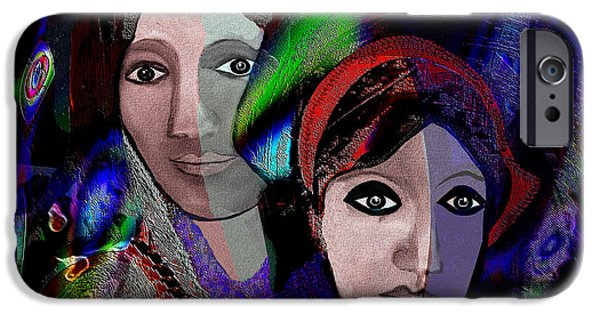Beloved iPhone Cases - 007 - Exotic Ladies  iPhone Case by Irmgard Schoendorf Welch