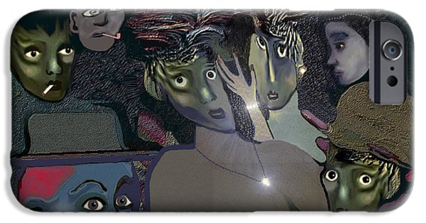 Irmgard iPhone Cases - 015 - Berlin in the 1920s - the shining iPhone Case by Irmgard Schoendorf Welch