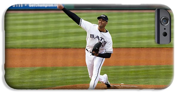 Baseball Pitcher iPhone Cases - 0229 The Delivery iPhone Case by Steve Sturgill