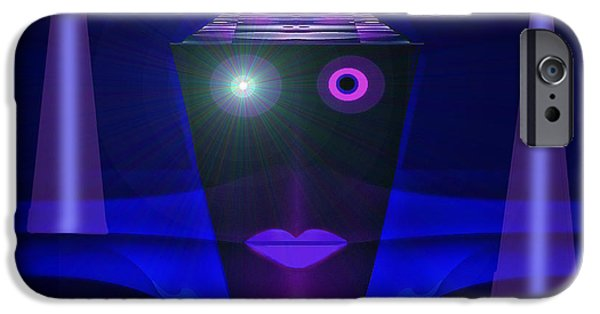 Night Lamp iPhone Cases - 023 - Guard of the Night  ... iPhone Case by Irmgard Schoendorf Welch