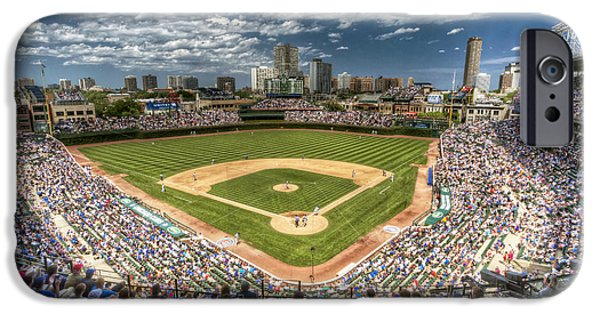 Fields iPhone Cases - 0234 Wrigley Field iPhone Case by Steve Sturgill