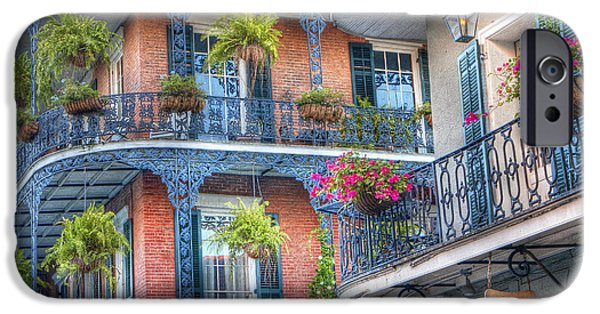 Balcony Photographs iPhone Cases - 0255 Balconies - New Orleans iPhone Case by Steve Sturgill