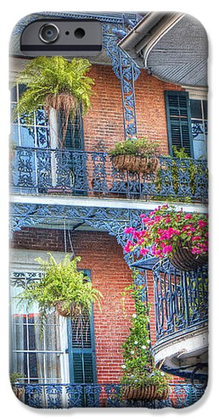 0255 Balconies - New Orleans iPhone Case by Steve Sturgill