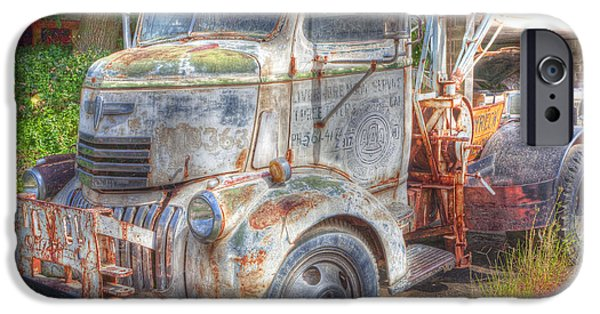 Tow Truck iPhone Cases - 0281 Old Tow Truck iPhone Case by Steve Sturgill