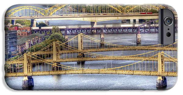 Roberto iPhone Cases - 0307 Pittsburgh 8 iPhone Case by Steve Sturgill