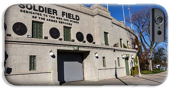 Soldier Field iPhone Cases - 0417 Soldier Field Chicago iPhone Case by Steve Sturgill