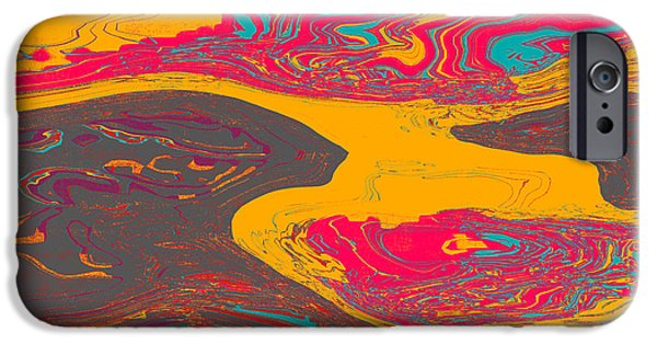 Abstract Digital Art iPhone Cases - 0437 Abstract Thought iPhone Case by Chowdary V Arikatla