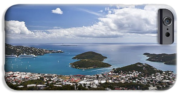 Panoramic Ocean iPhone Cases - 0457 St Thomas US Virgin Islands iPhone Case by Steve Sturgill